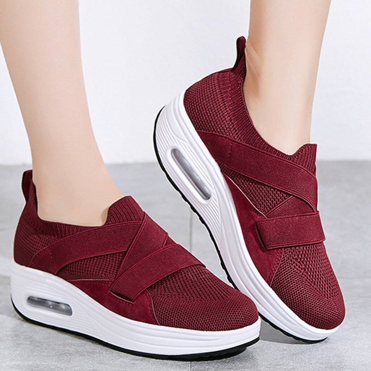 Mesh Breathable Casual Woman Slip-on Sneakers