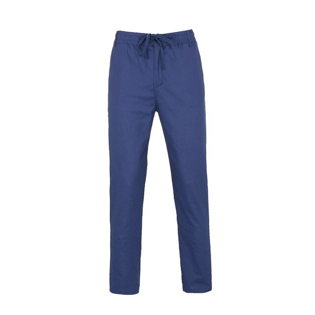 Men Solid Color Casual Trousers