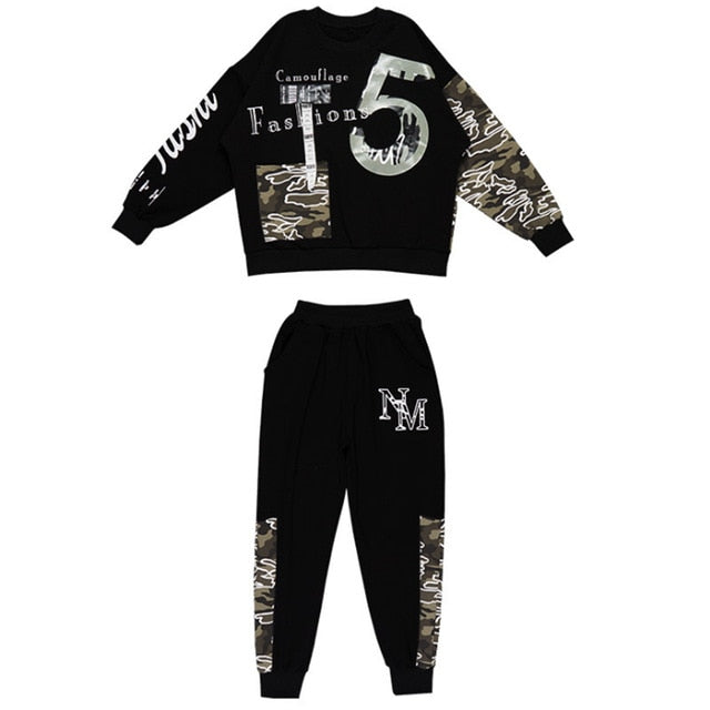 Sport Camouflage Suit Boys Clothing