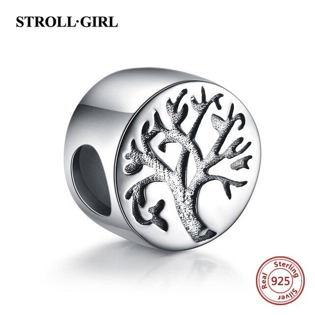 925 silver charms warming family the tree of life beads fit authentic European bracelet jewelry making diy valentines gift