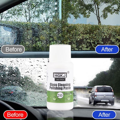 Car Glass Polish Cleaning Tool Wax Care Window Repair Agent Hydrophobic Paint Oil Film Waterproof Glass Scratch Remover Cleaner