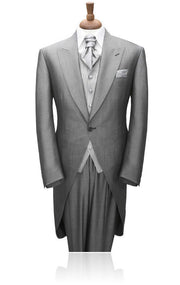 Men's Light Gray Morning Suits 3-Piece