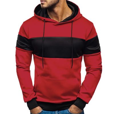 Mens New Fashion Casual contrast color patchwork hoodies men Slim Fit Homme Hoody Mens Sweatshirt Harajuku #NOCL3