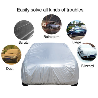 Universal Full Car Cover Snow Ice UV Shade Cover