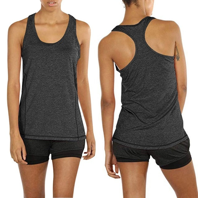 Activewear Tops Women Activewear Running Workouts Yoga Sport Racerback Yoga Tank Tops sports Top for gym Running#30