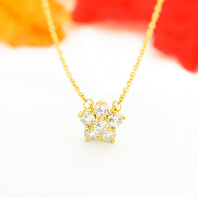 za 2020 women Cubic Zirconia Star Necklaces Pendants Crystal Jewelry Office Style Accessories Best Gifts For Her