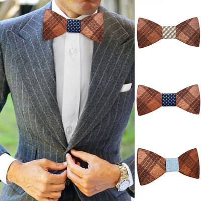 Men Bowtie Cork Wood Bow Ties Males Novelty Handmade Solid Neckwear For Mens Wedding Party Man Gift Accessories ##3