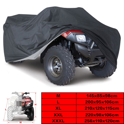 Universal Black 190T Motorcycle Waterproof Cover Quad Bikes