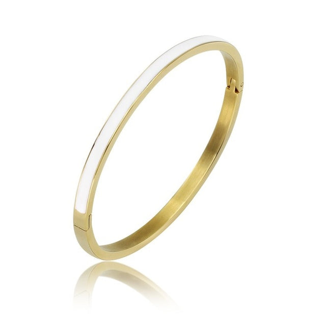 Fashion Star Stainless Steel Women Hollow Bangle Gold Color Bangle 	 Steel Cuffs  For Women Love Bracelets Gift Pulseira