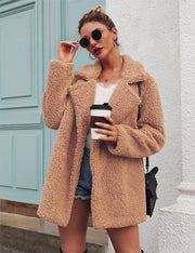 Faux Fur Coat Fleece Sweatshirts Cardigan 2019 Female Autumn Winter Coat Women Overcoat Plush Jacket Mujer Chaqueta Mujer