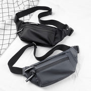 Waterproof Men Sports Running Waist Bag Reflective Fanny Belt Bum Money Phone Pouch Oxford Cloth Outdoor Crossbody Chest Pack