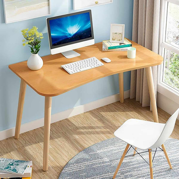 Office Desk Wooden Desk 100x50x75cm Home PC Computer Laptop Makeup Table Workstation Study Writing Desk Home Office Gaming Table