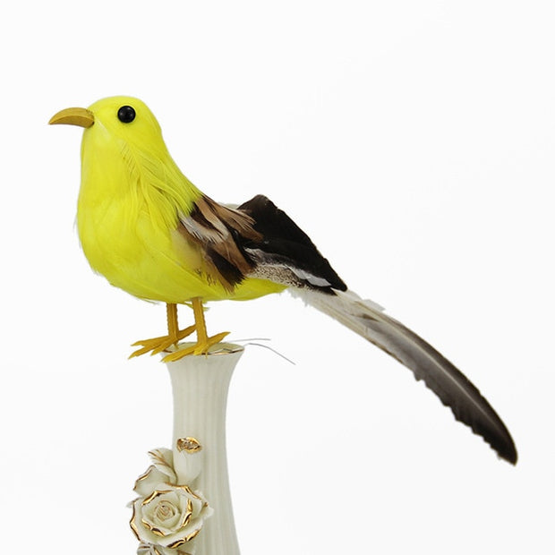 Creative Artificial Parrots Imitation Bird Model Home Bonsai Outdoor Decor Bird Garden Wedding Ornament Birds DIY Party Decor