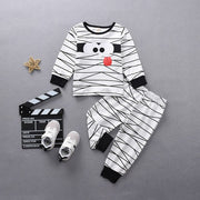 Toddler Kids Clothing Set Baby Girls Boys Autumn Winter Fashion Halloween Party Tops+Funny Mummy Pants Pajamas Outfits C140#