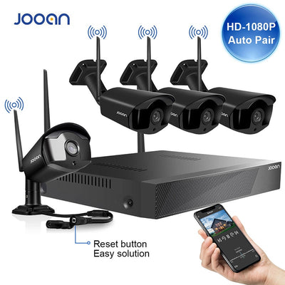 Wireless Surveillance System Kit 1080P 2MP HD WIFI Camera Home Security Camera System Night Vision Video Surveillance Kit