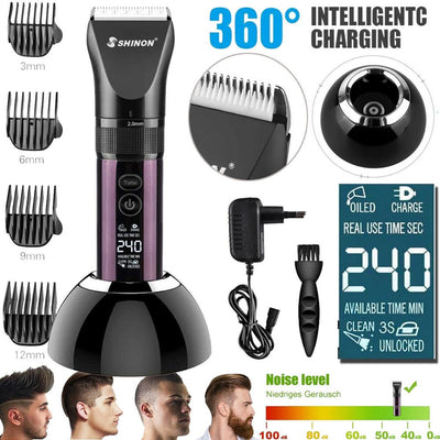 Electric Hair Trimmer Clipper Men Professional Digital Beard Trimer Body Face Hair Clippers Adult Cordless Hair Cutting Machine