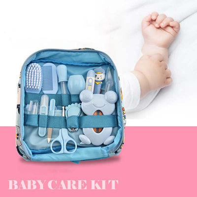 13Pcs Baby Care Hygiene Kit Travel Nail Cartoon Bag Suit Manicure Cut Grooming Healthcare Kits Tools Essentials Nail Clipper