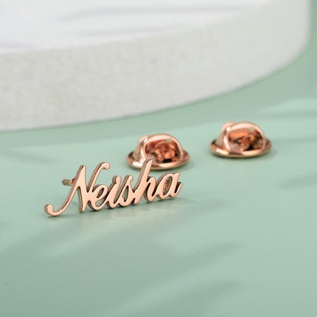 Customized Name Pins Personalized Initial Brooches Pins Name Brooch alfiler para regalo bodas For Women Men