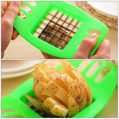Creative Kitchen Tool Vegetable Potato Slicer Chips Cutter Chopper Cutting Slicing Cutter Gadget Portable kitchen gadgets TSLM1