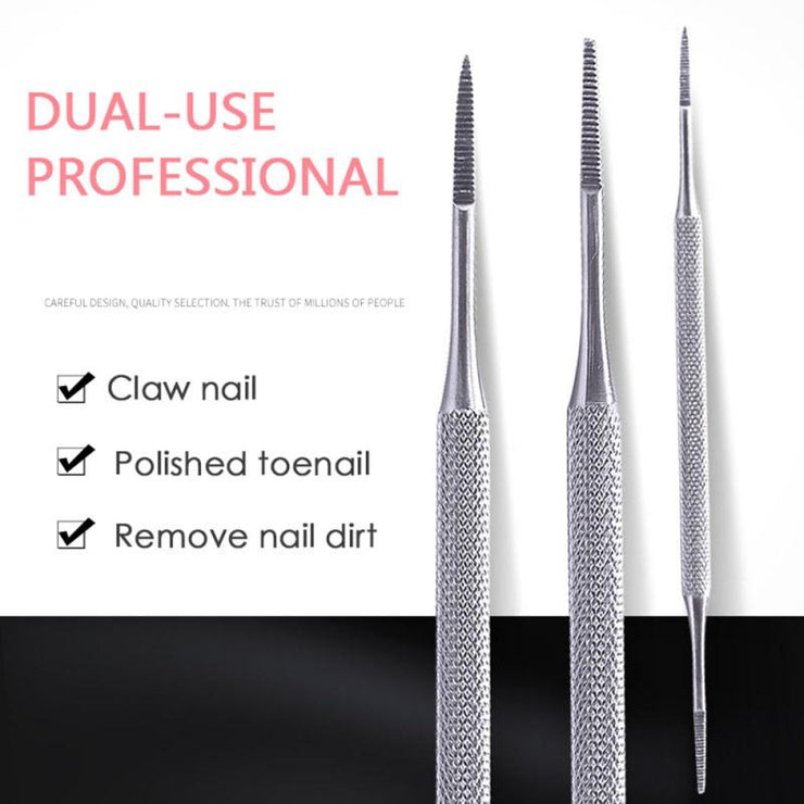 Stainless Toe Nail File Double Ended Pedicure File Satin Edge Ingrown Toe Nail Lifter Onychomycosis Paronychia Podiatry TSLM1