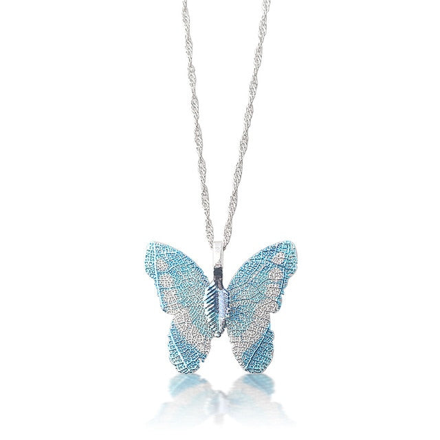 2020 Shiny Crystal Butterfly Necklace for Women Tennis Chain Sparkly Butterfly Choker Necklace Pendant Collar Jewelry
