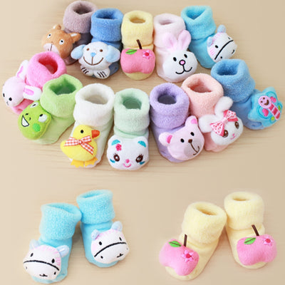 Cartoon Baby Girls Boys Socks Fashion Newborn Kids Baby Girls Boys No Slip Warm Socks Slipper Shoes Boots Recien Nacido#35