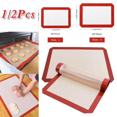 Durable Silicone Baking Mat Non-Stick Cookies Sheet Oven Mat Healthy Homewares Home Reuseable Baking Mat Bakeware Accessories