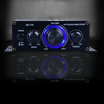 Mini Amplifier Professional Home LED Amplifiers Audio Amplifier With LED Lights Subwoofer Amplifier Home Theater Sound System