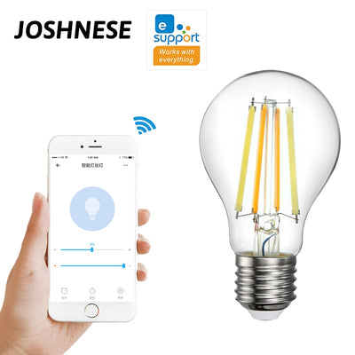 WiFi Smart Light Bulb 7.5W 220V E27 LED RGB Lamp Works With Alexa/Google Home And eWeLink App Remote Control White Dimmable Bulb