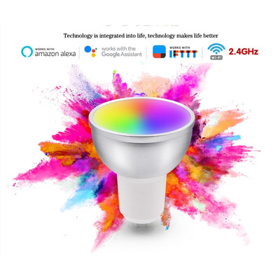 GU10 5W WiFi Smart Light Bulb LED Lamp App Work With Alexa Google Home Control Wake Up Smart Lamp Smart Home RGBCW Inteligente