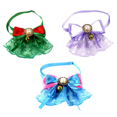 pet Collar Lace Bells Pet Dog Bow Tie Dogs Accessories Cute Pet Dog Bowties Dog Grooming Products Pet Shop Dog Supplies#0807y30