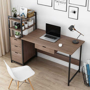 Laptop Desk with Shelves Drawers Computer Desk with CPU Stand, Home Office Gaming Table Workstation Study Writing Desk Modern