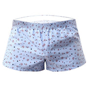 2020 Men Underwear Boxer Shorts Loose Breathable Sleepwear Trunks Dot Print Men Shorts Underwear Panties Underpants Homme