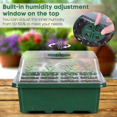 12 Hole Plant Seed Grow Box Nursery Seedling Starter Garden Yard Tray Hot Seedling tray Plant Seed Grow Box