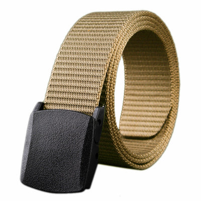 Trendy Fashion Belt Canvas Casual Wild Woven Belt Canvas Belt Men And Women Belt Youth Without Metal Automatic Buckle Student