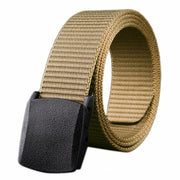 Wild Men Canvas Belt Hypoallergenic Metal free Plastic Automatic Buckle Belt for Male Waistband
