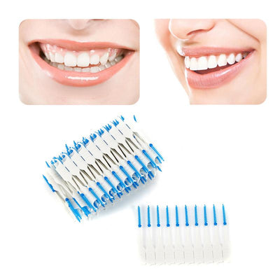 120 Pcs Tooth Floss Oral Hygiene Dental Floss Soft Interdental Dual Toothpick Healthy Tool Dental Floss Teeth Cleaning Oral Care