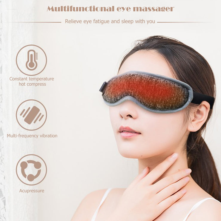 USB Temperature Control Heat Steam Cotton Eye Mask Dry Tired Compress Hot Pads Heating Eye Care Massage SPA Eye Patch