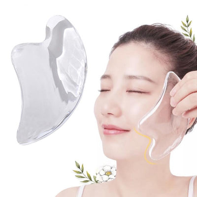 1PC Gua Sha Board Scraping Beeswax Massager Transparent Natural Slim Pain Relief Relaxation Scraping Plate Massage Tool Spa