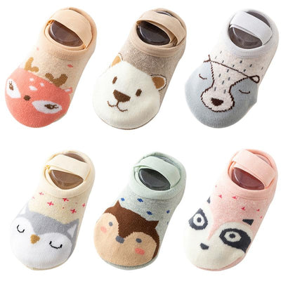 1 Pair Baby Girl & Boy Toddler Anti-slip Socks Grip Slippers Toddler Floor Sock With Baby Girls Boys Soft Cute Boots Leg Warmers