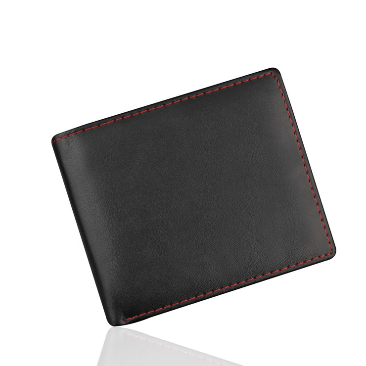 PU Leather Red Line Wallets 2019 Fashion Men Bifold Business Leather Wallet ID Credit Card Holder Purse Pockets