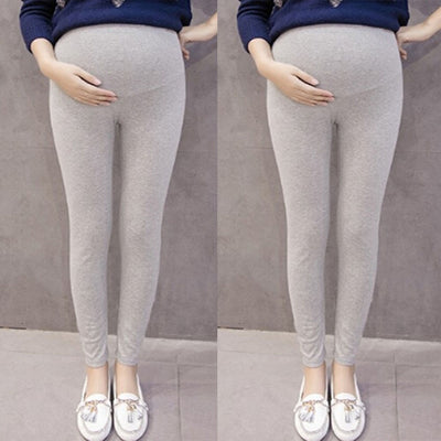 Pregnant Women's Pants Solid Color And Thin Maternity Pregnancy Trousers Women Thin Soft Cotton Pants High Waist Clothes