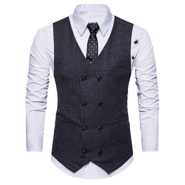 Men Autumn 3 Pieces Business Blazer +Vest +Pants Suit Sets Fashion Solid Slim Wedding Set Vintage Classic Blazers Male Suit