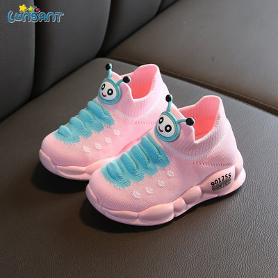 LONSANT New Children Shoes Children Girls Boys Breathable Mesh Flashing Lights Fashion Sneakers Toddler Little Kid Sneakers N30