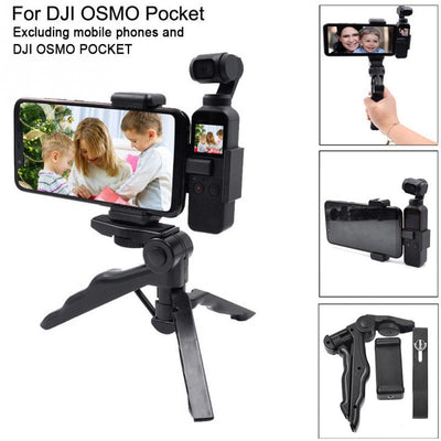 Handheld Fixing Bracket Phone Holder Clamp Gimbal Camera Accessories Rod Mount Stick With Tripod Extended For DJI OSMO Pocket