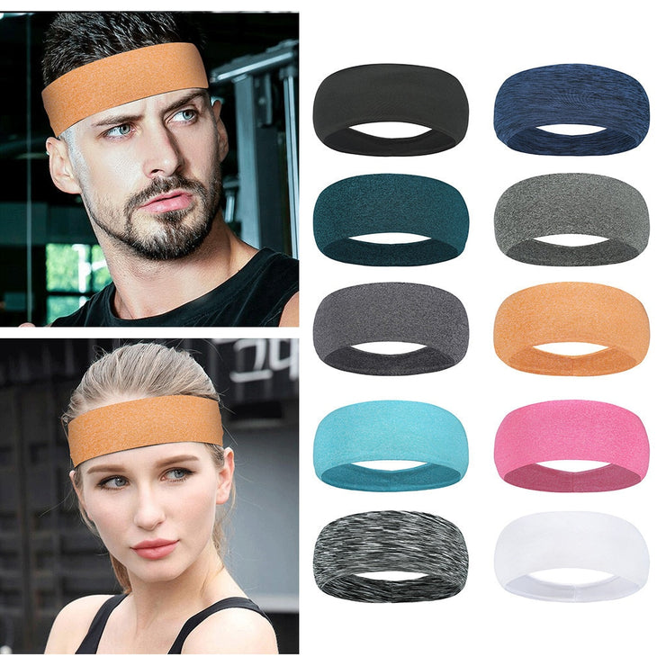 Yoga Sport Sweat Headband Absorbent Cycling yoga accessories Men Sweatband For Men and Women Hair Bands Head Sweat Bands#45