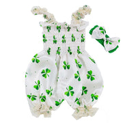 Clova Baby Girls Day Romper with Head Band.