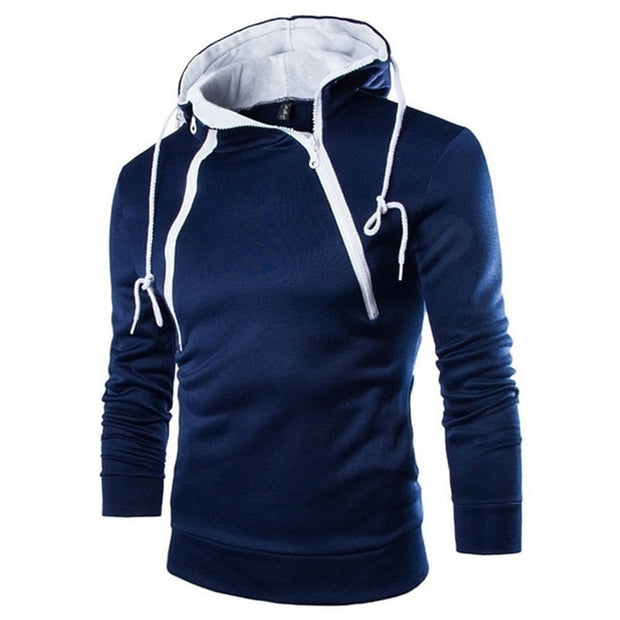 men hooded sweatshirts Men's Long Sleeve Patchwork Hoodie Hooded Sweatshirt Top Tee Outwear Blouse#NFA