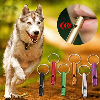 1PC Pet Dog Training Whistle Dogs Puppy Sound Aluminum Alloy Pet Shop Dog Accessories Trainning Whistles Pets Products