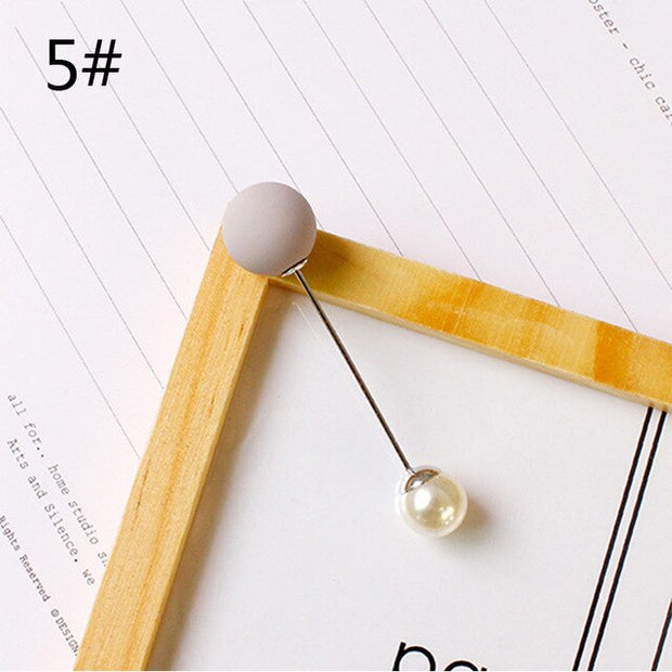 Girls Pin High Quality Double Pearls Brooch